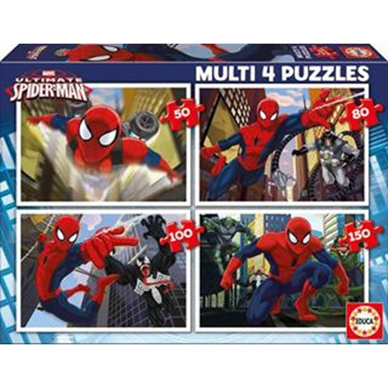 Educa puzzle multi 4 50-80-100-150 ultimate S