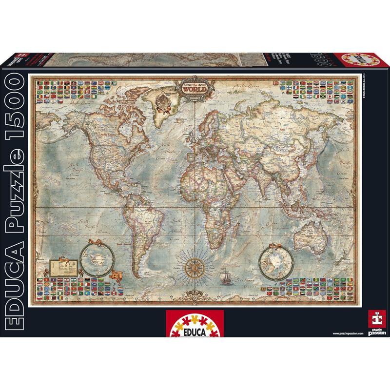 Educa puzzle 1500 mapa político
