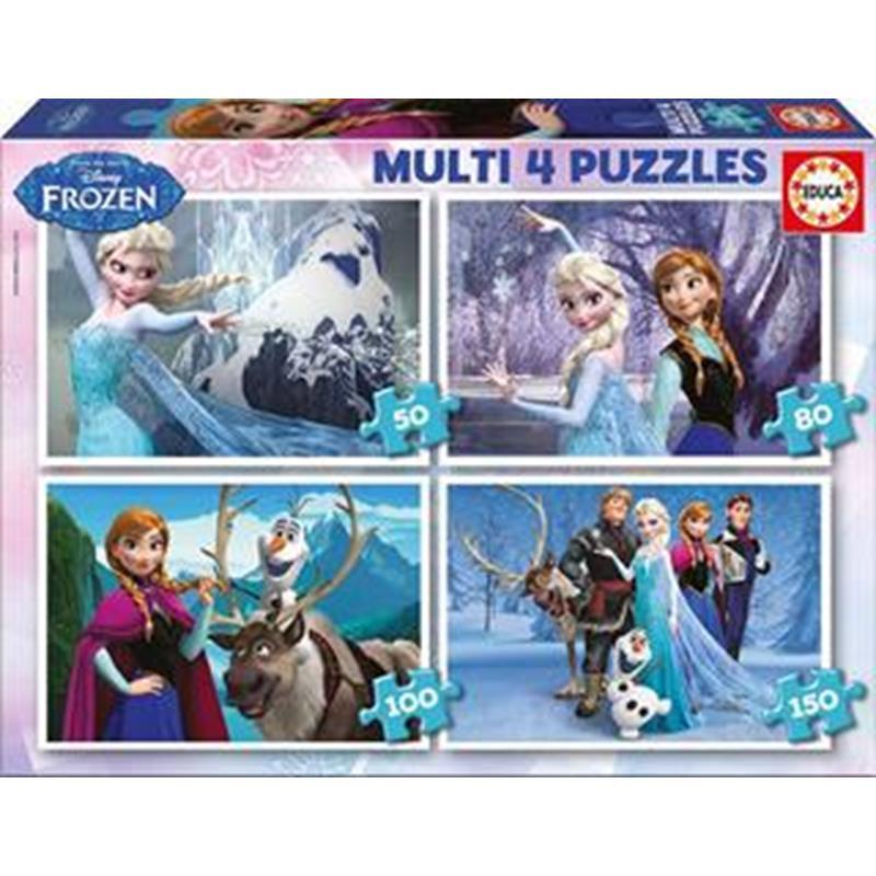 Educa puzzle multi 4 puzzles Frozen 50-80-100