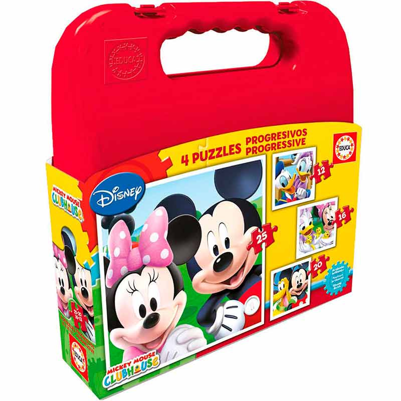 Educa puzzle progressivo Mickey Mouse 12-16-20-26