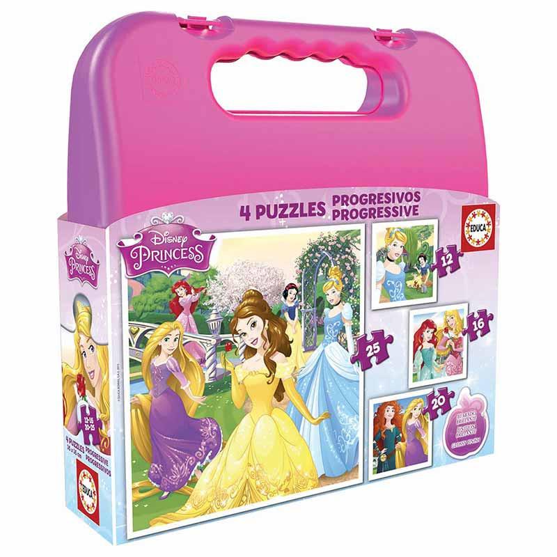 Educa puzzle maleta progressivo princesas disney