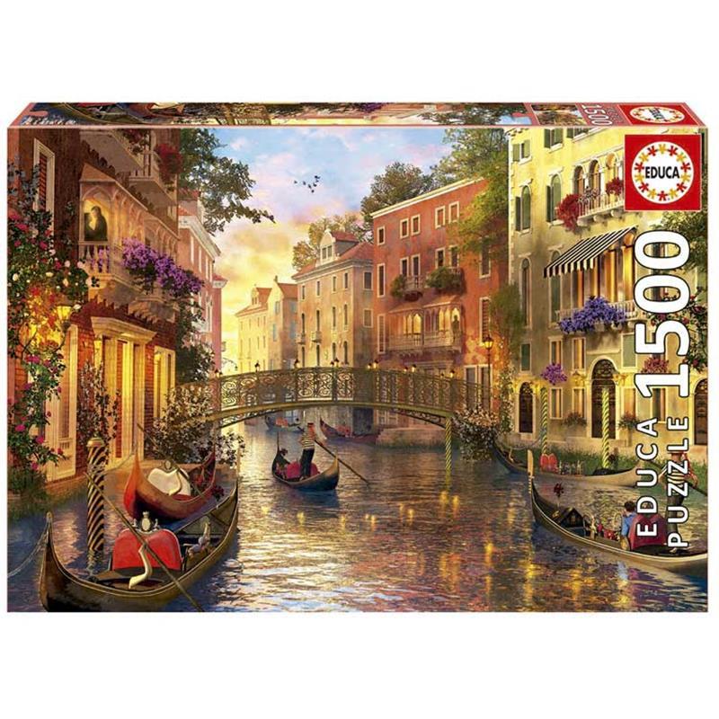 Educa puzzle 1500 atardecer en Venecia