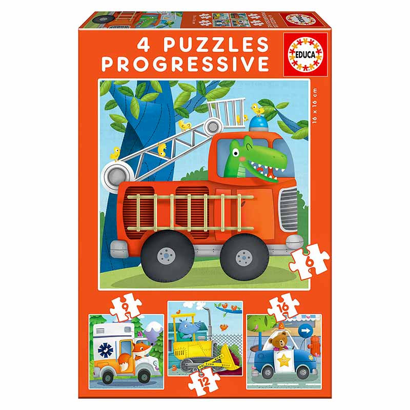 Educa Puzzle Progressivo Patrulha de resgate