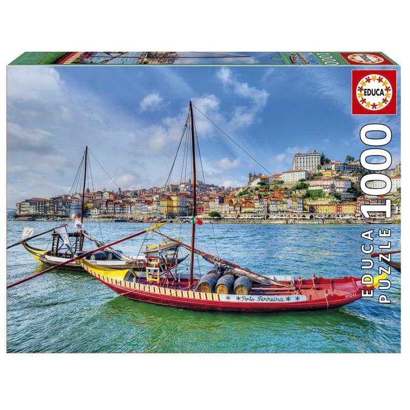 Educa puzzle 1000 barcos rabelos, oporto