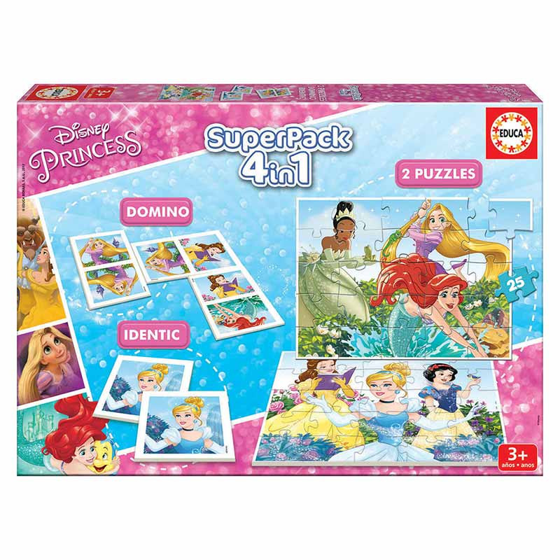 Educa Superpack 4 e 1 juegos Princesas Disney
