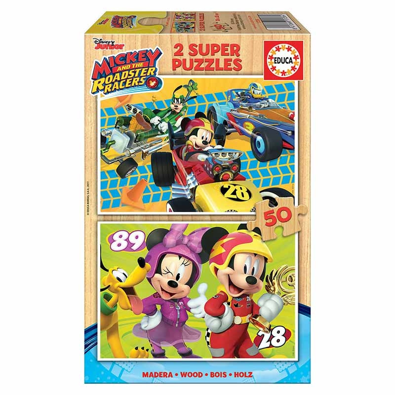 Educa puzzle 2x50 Mickey e los Superpilotos