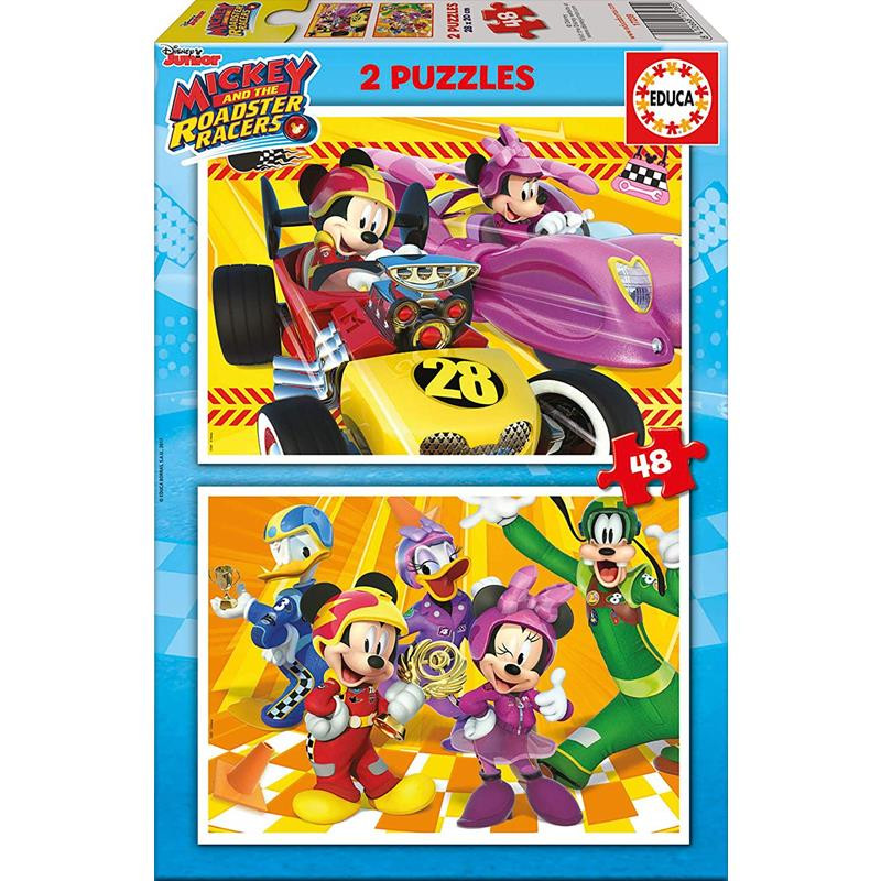 Educa puzzle 2x48 Mickey y los super pilotos
