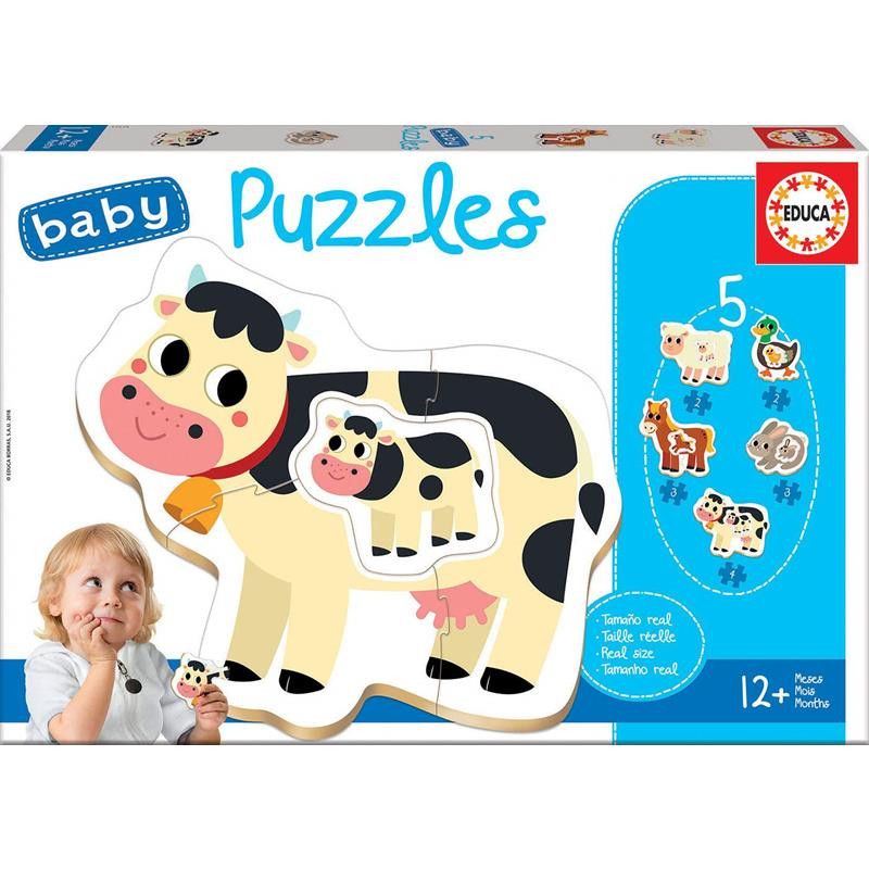 Baby Puzzle Animales Granja