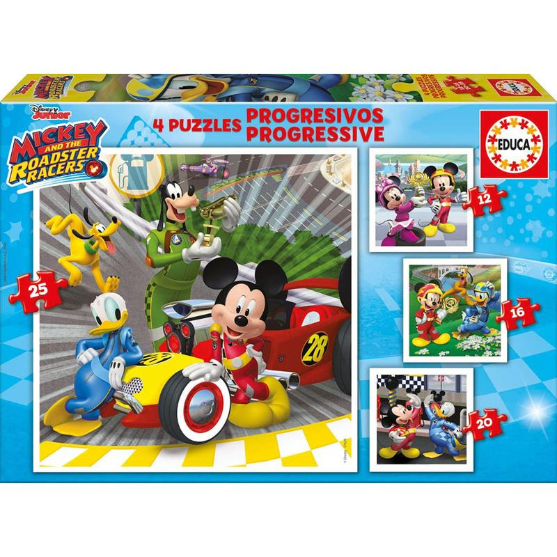 Educa puzzle progresivo Mickey y los superpil