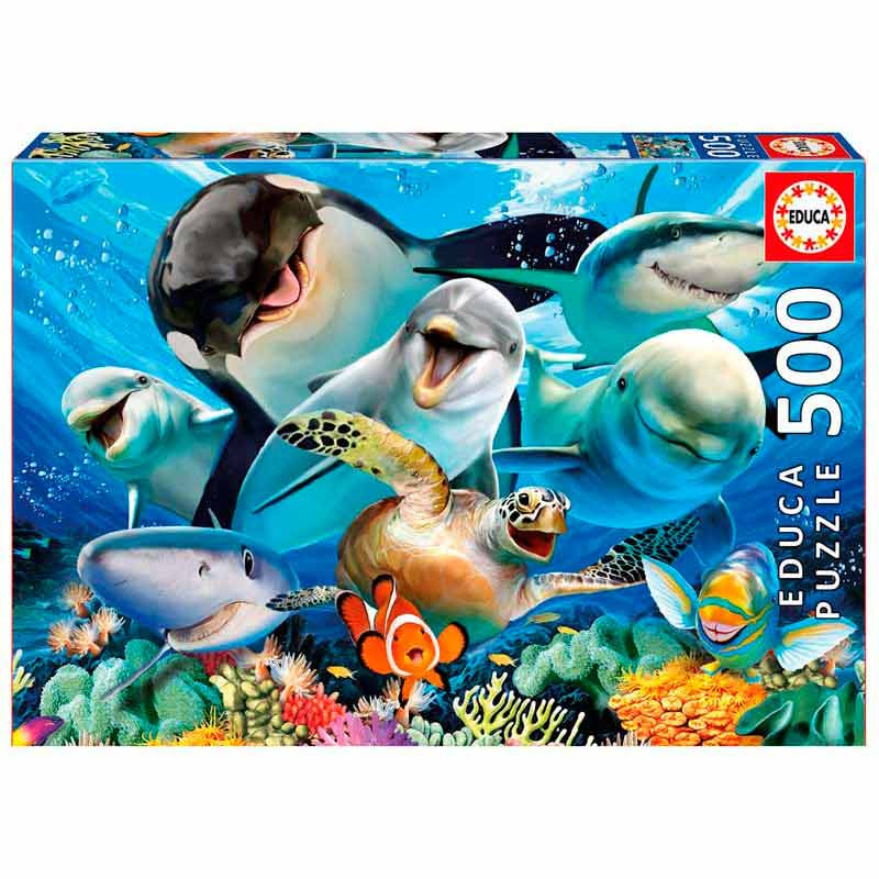 Educa puzzle 500 selfie bajo el agua