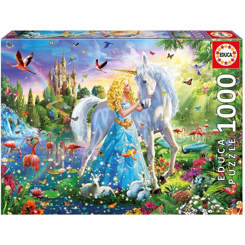 Educa puzzle 1000 la princesa y el unicornio