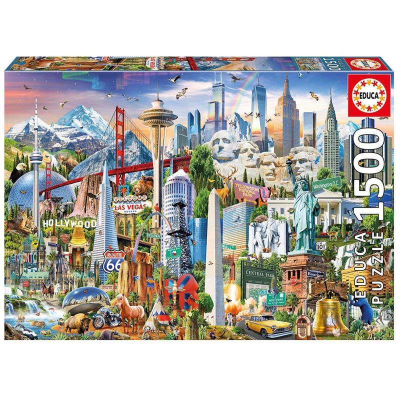 Educa puzzle 1500 símbolos de norte América
