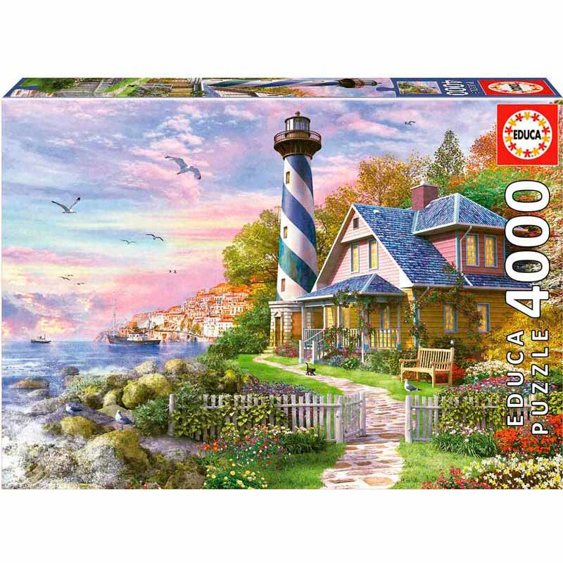Educa puzzle 4000 faro en Rock Bay