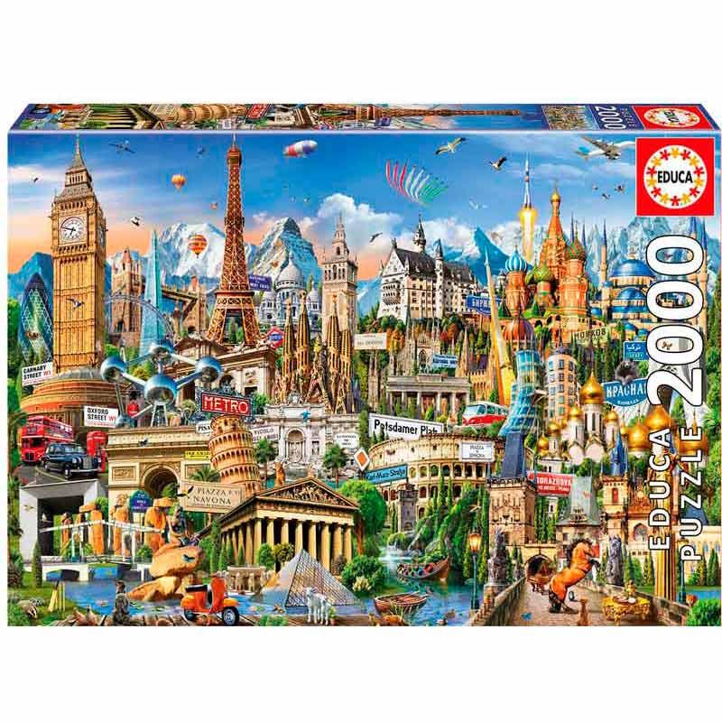 Educa puzzle 2000 símbolos de Europa