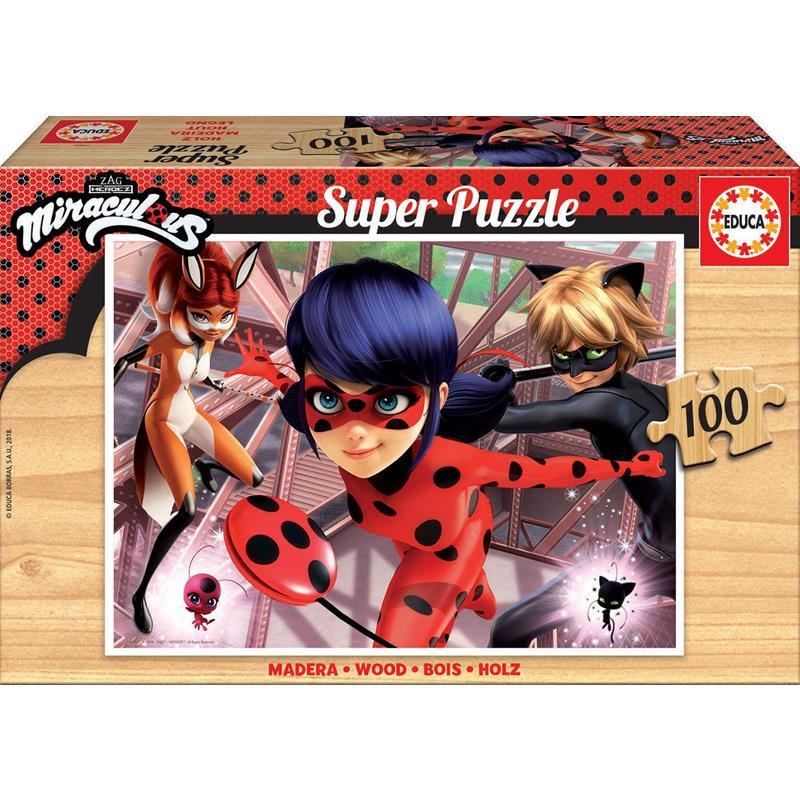Educa Puzzle Madera 100 Ladybug
