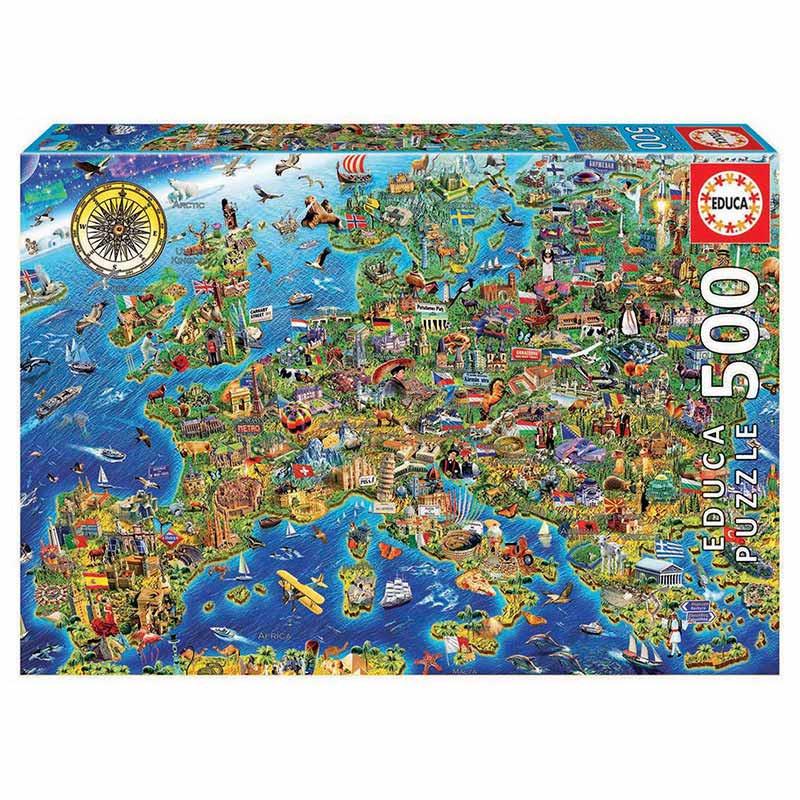 Educa puzzle 500 mapa de Europa