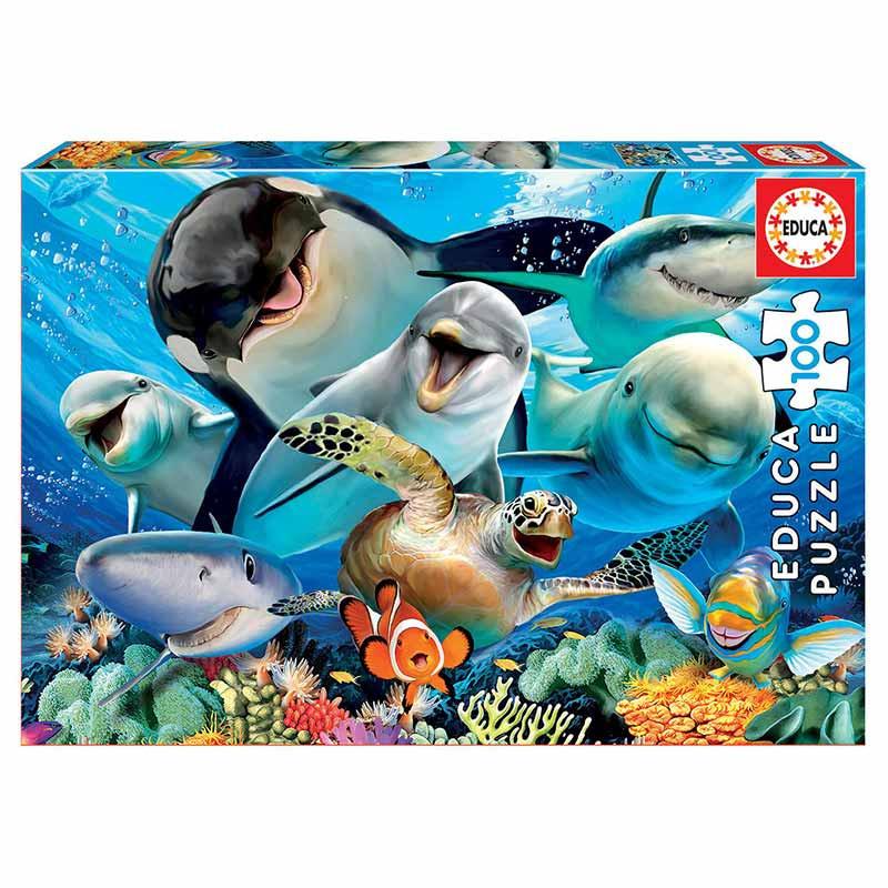 Educa puzzle 100 selfie bajo el agua