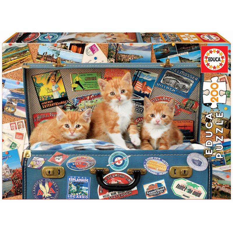 Educa puzzle 200 gatitos viajeros