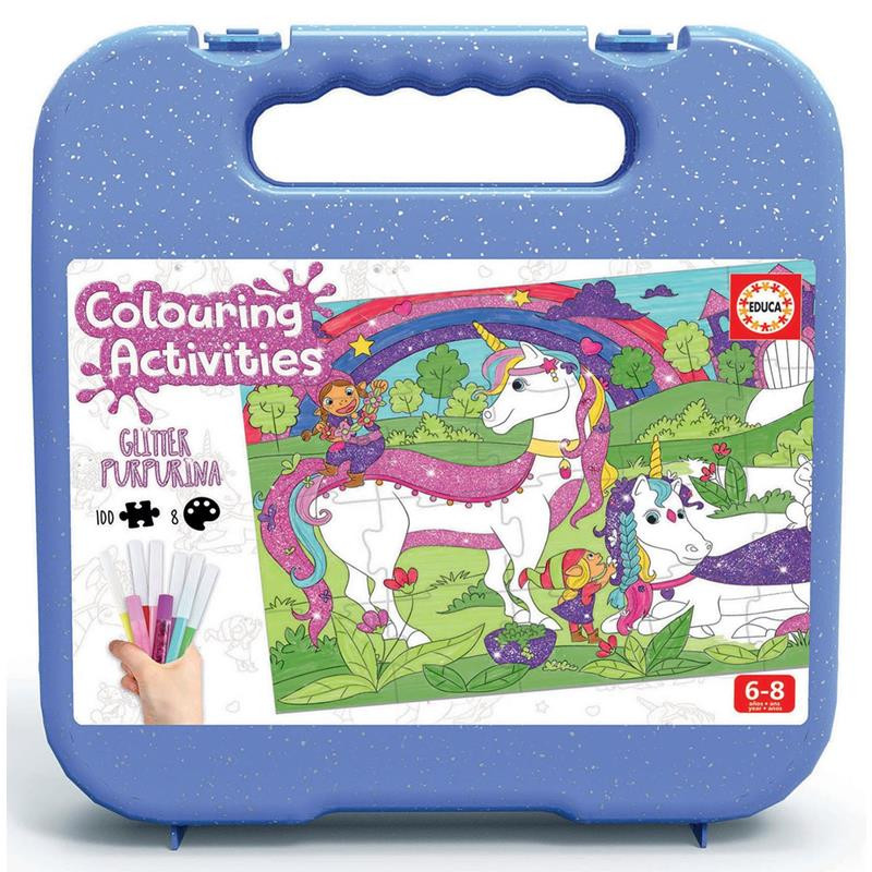 Educa Colouring Activities unicornio 100 piezas