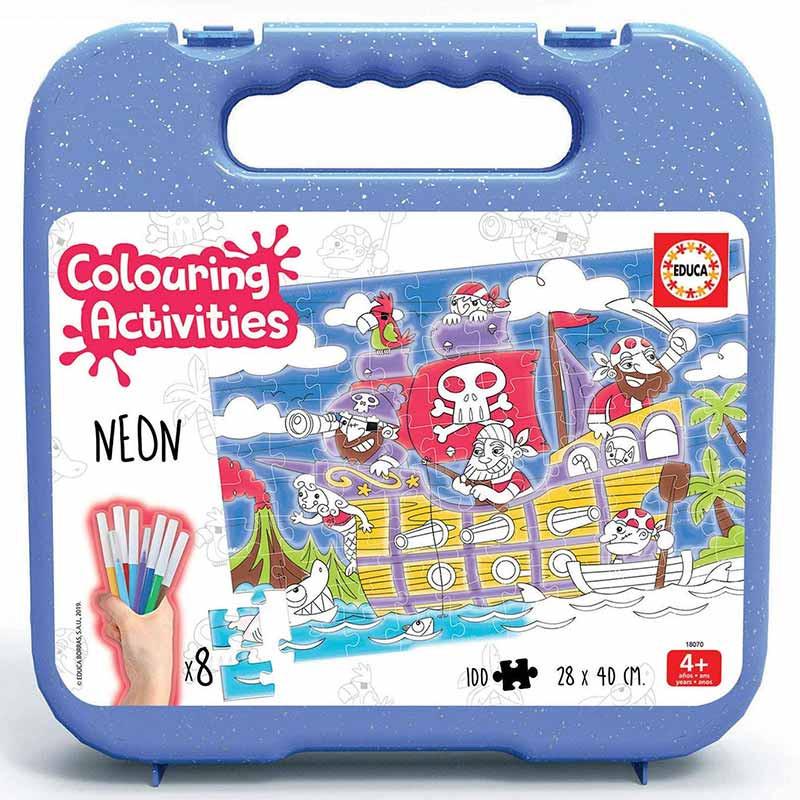 Educa colouring activities 100 piratas