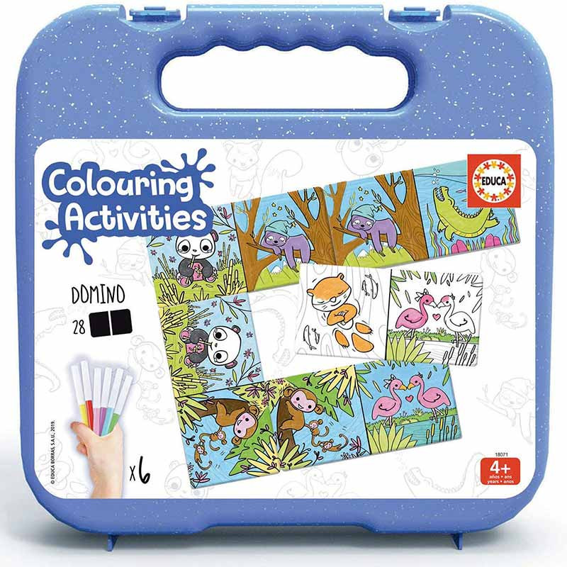Educa colouring activities dominó