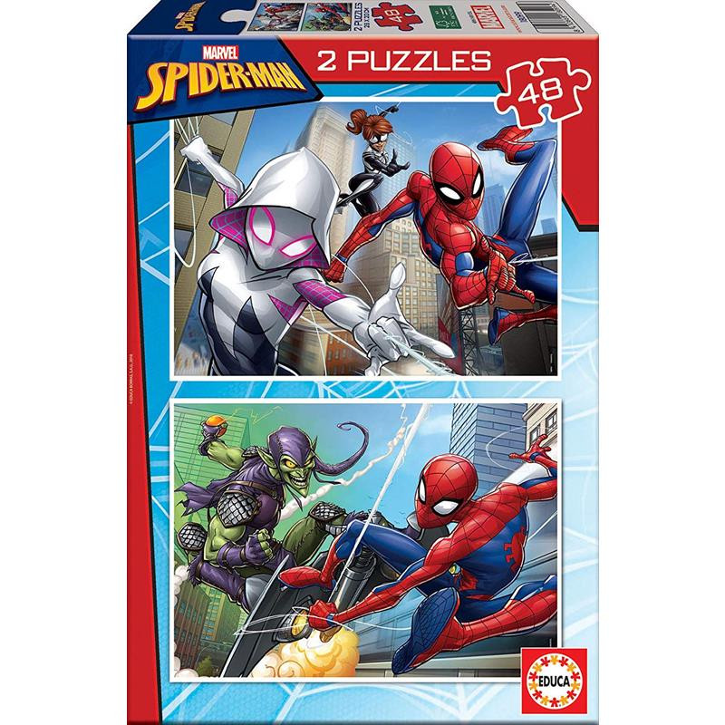Educa Puzzle 2x48 Spiderman