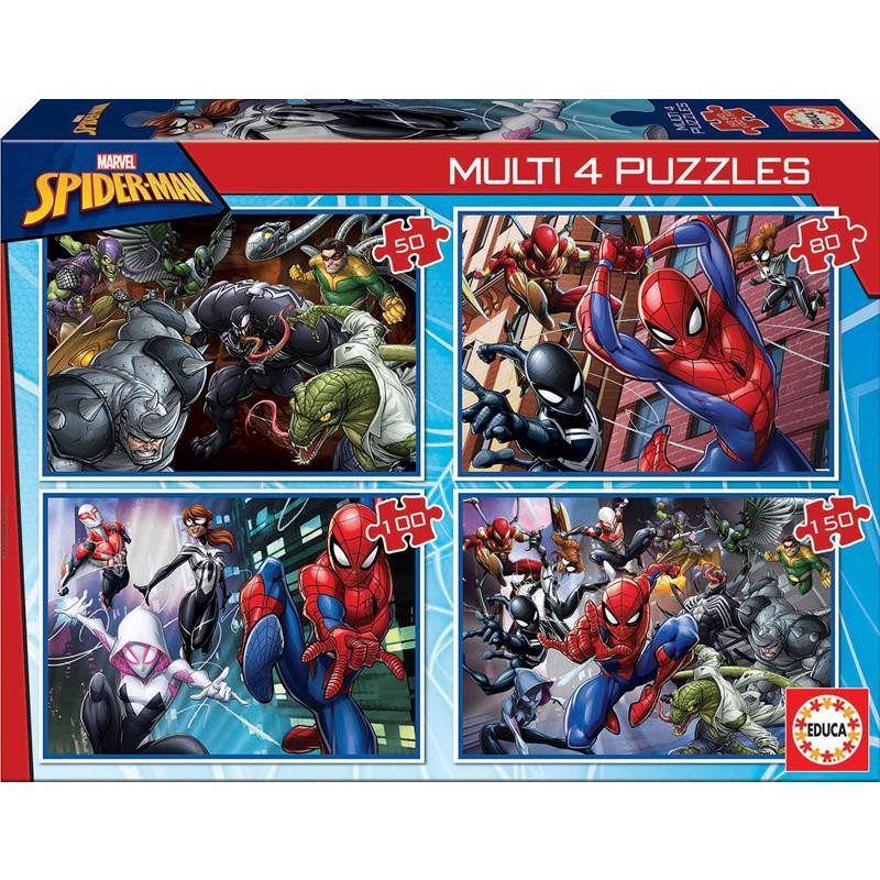 Educa Puzzle Multi Spiderman 50-80-100-153