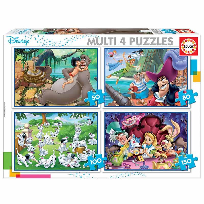 Multi 4 Puzzles Clásicos Disney 50+80+100+150