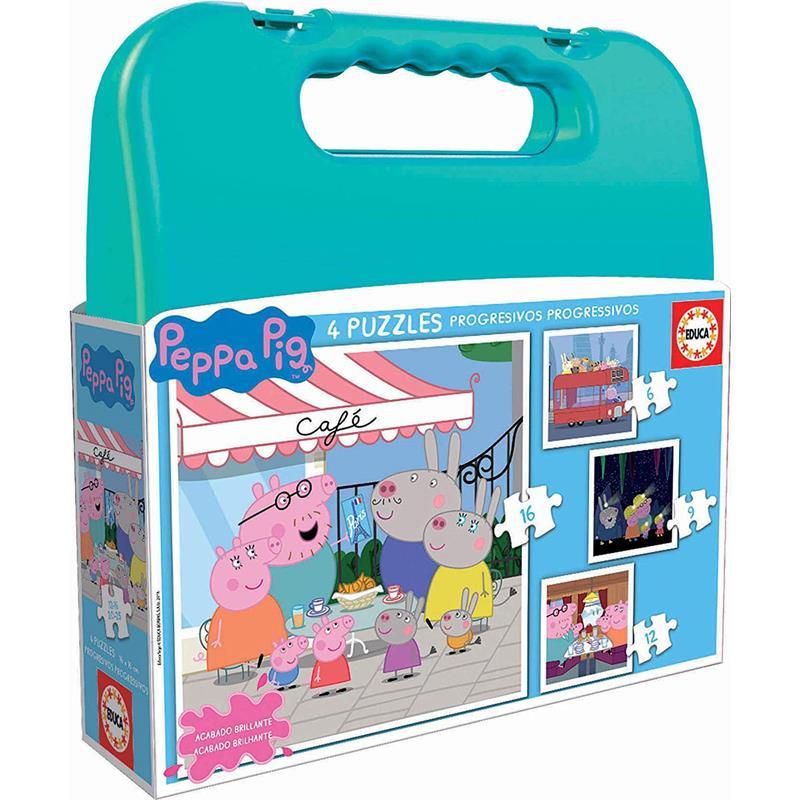 Educa Puzzle Maleta Progresiva Peppa Pig