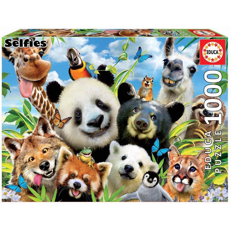 Educa Puzzle 1000 Llama Drama Selfie