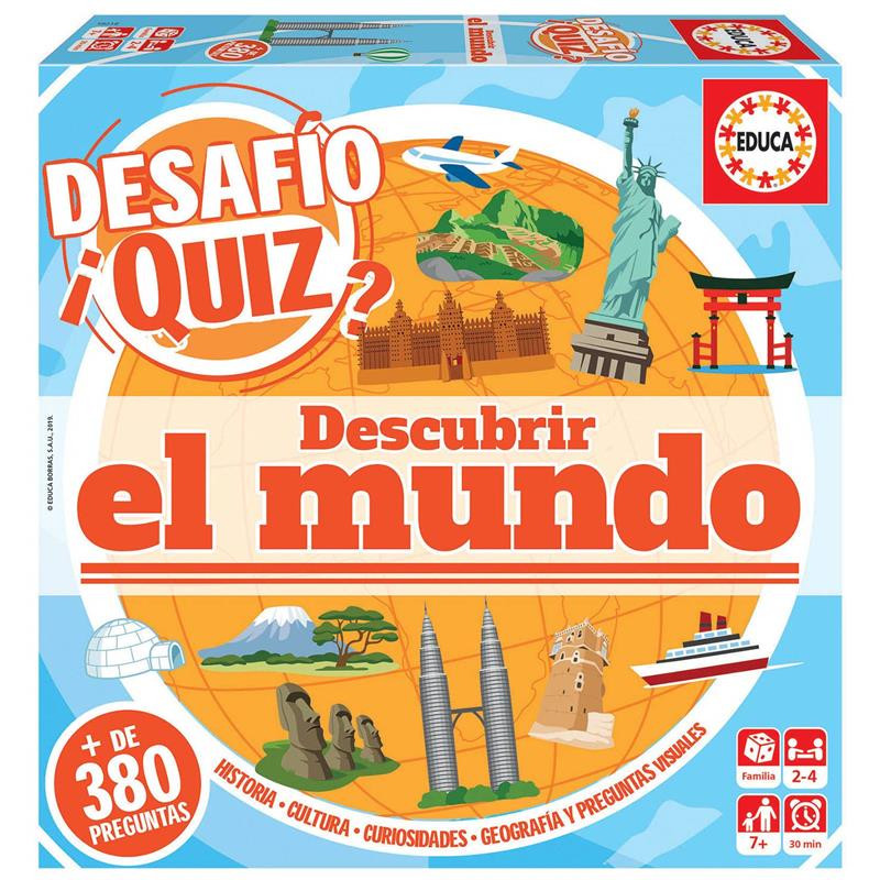 Educa Desafio Quiz descubrir el mundo
