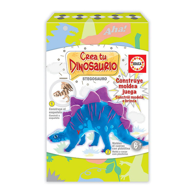 Educa crea y modea tu Stegosaurio