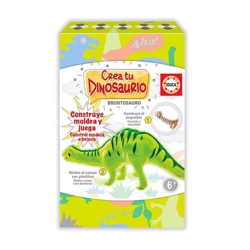 Educa crea y modea tu Brontosaurio