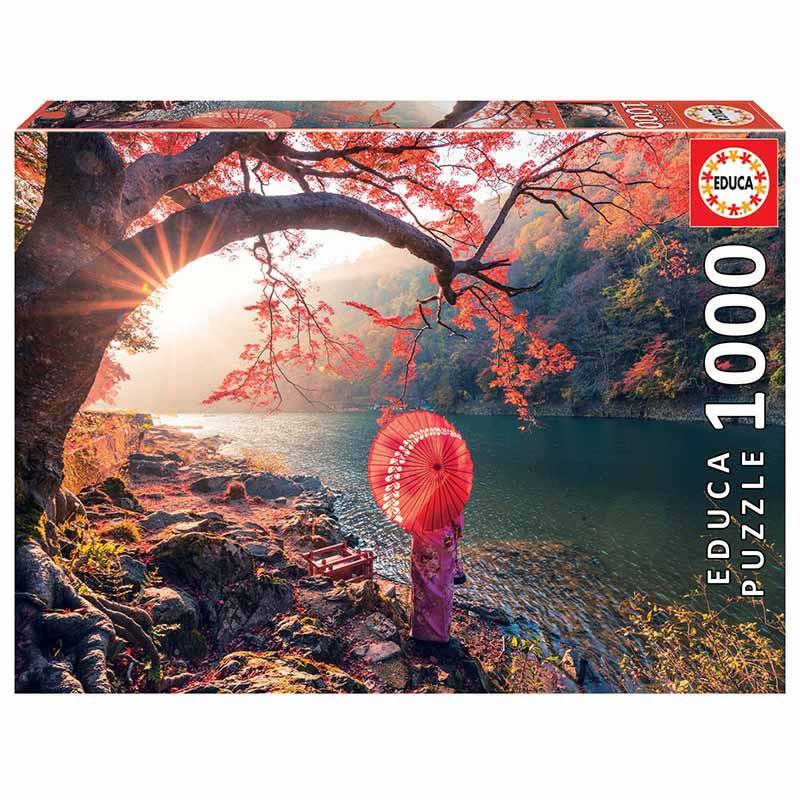 Educa puzzle 1000 amanecer en el río Katsura Japón