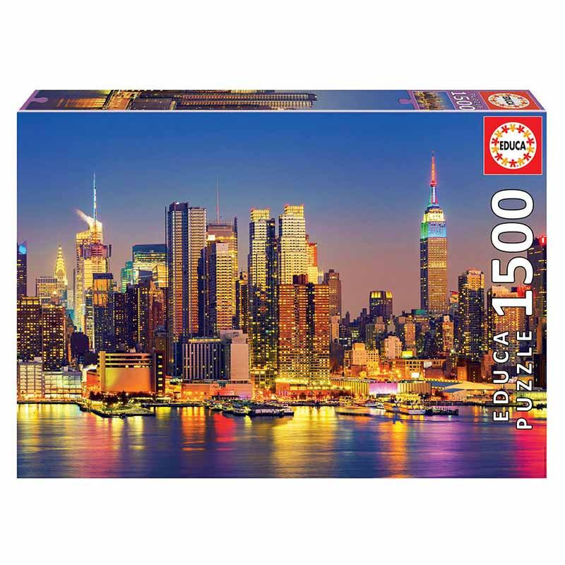 Educa puzzle 1500 Manhattan de noche