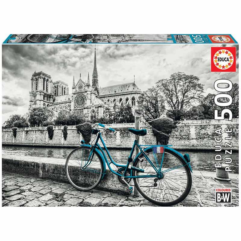 Educa puzzle 500 bicicleta cerca de Notre Dame