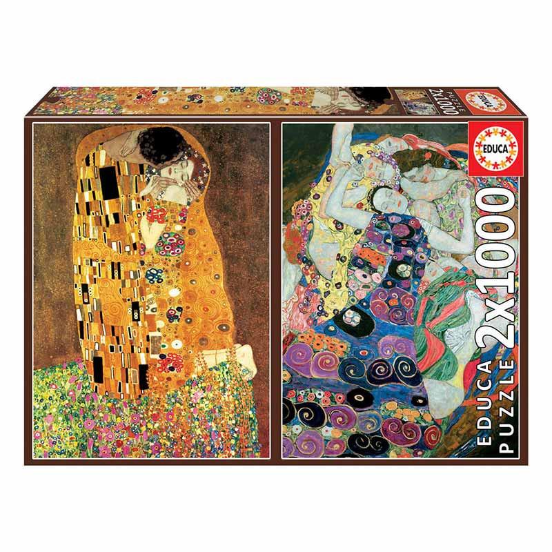 Educa puzzle 2x1000 El beso y La virgen Klimt