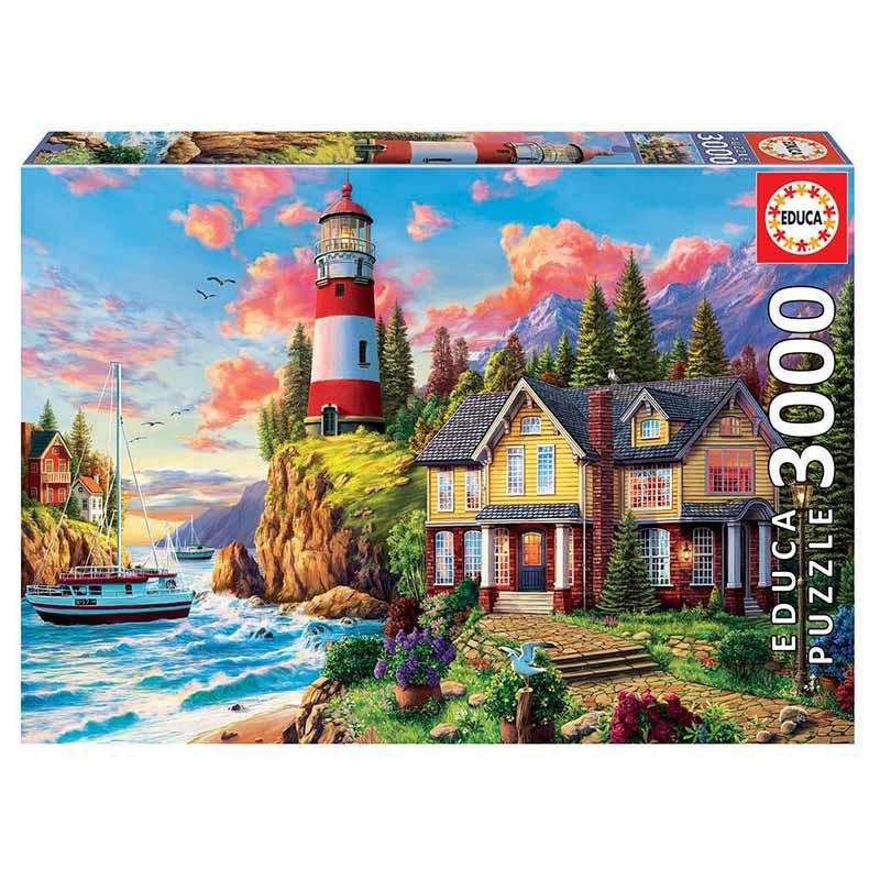 Educa puzzle 3000 faro cerca del océano