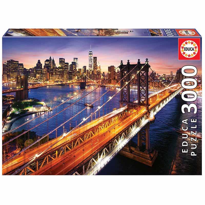 Educa puzzle 3000 Manhattan al atardecer