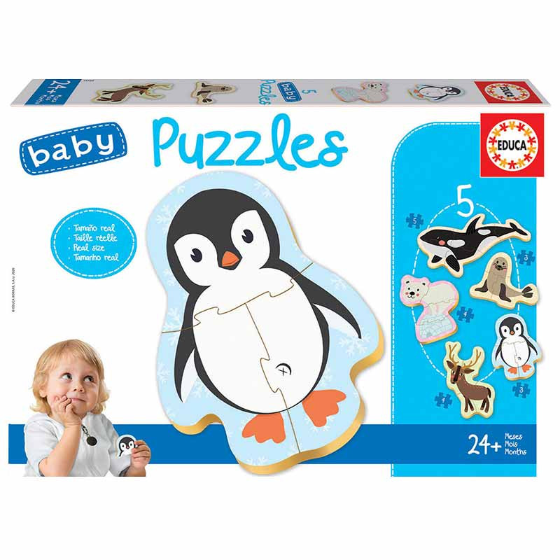 Educa Baby puzzle animales polo norte