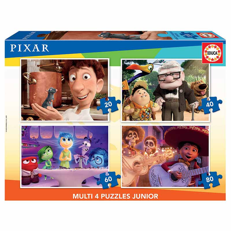 Educa puzzle multi 4 junior Pixar 20-40-60-80