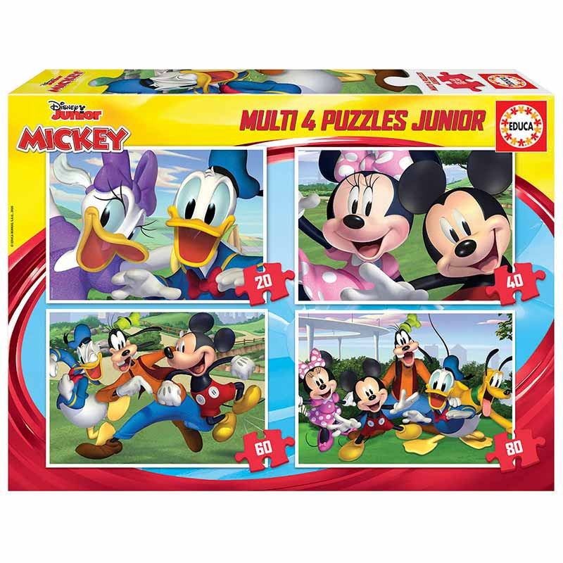 Educa puzzle multi 4 junior Mickey 20-40-60-80