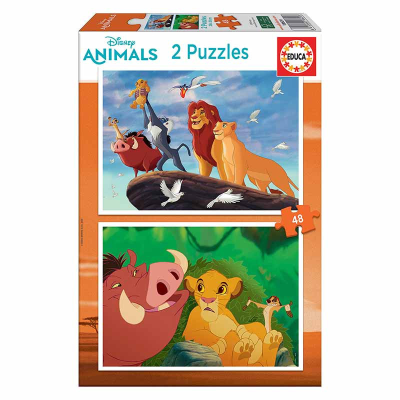 Educa puzzle 2x48 Rey León