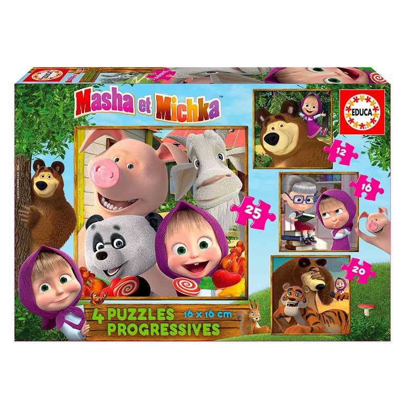 Educa puzzle progresivo Masha y el oso