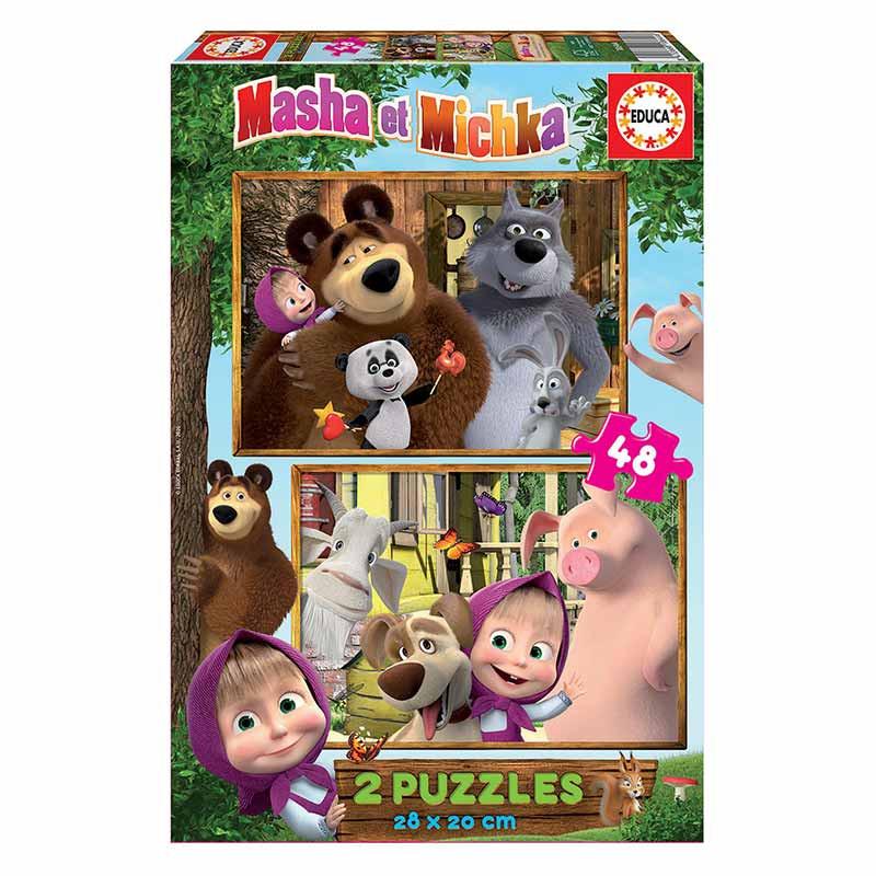 Educa puzzle 2x48 Masha y el oso