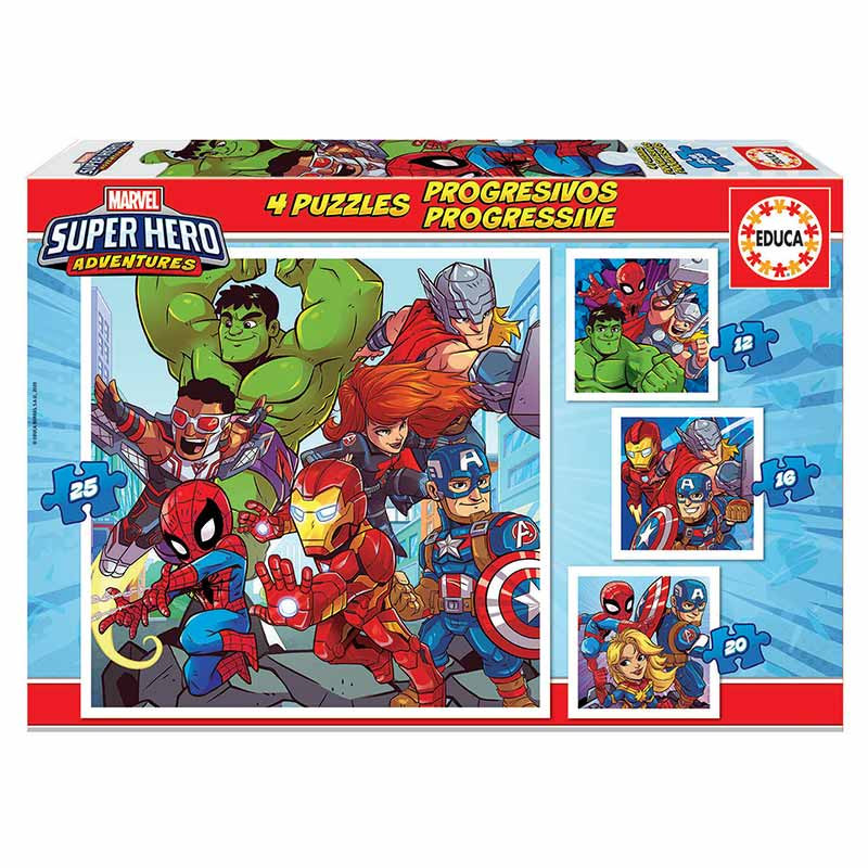 Educa puzzle progressivo Marvel 12-16-20-25
