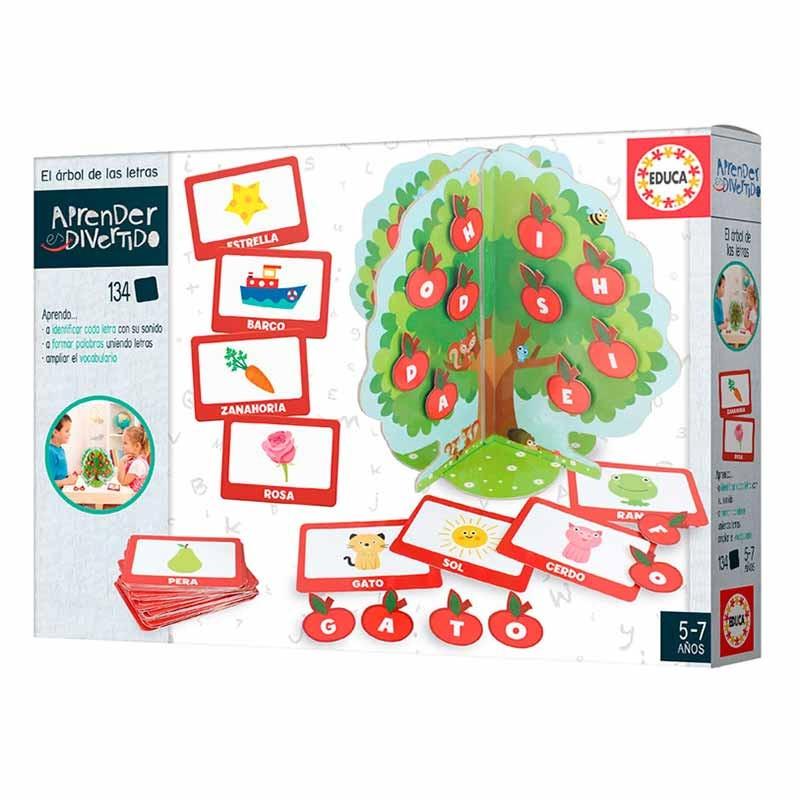 Educa aprender es divertido árbol letras