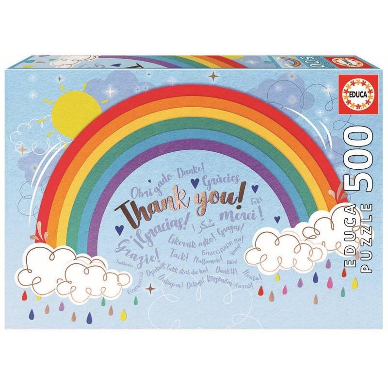 Educa puzzle 500 rainbow gracias