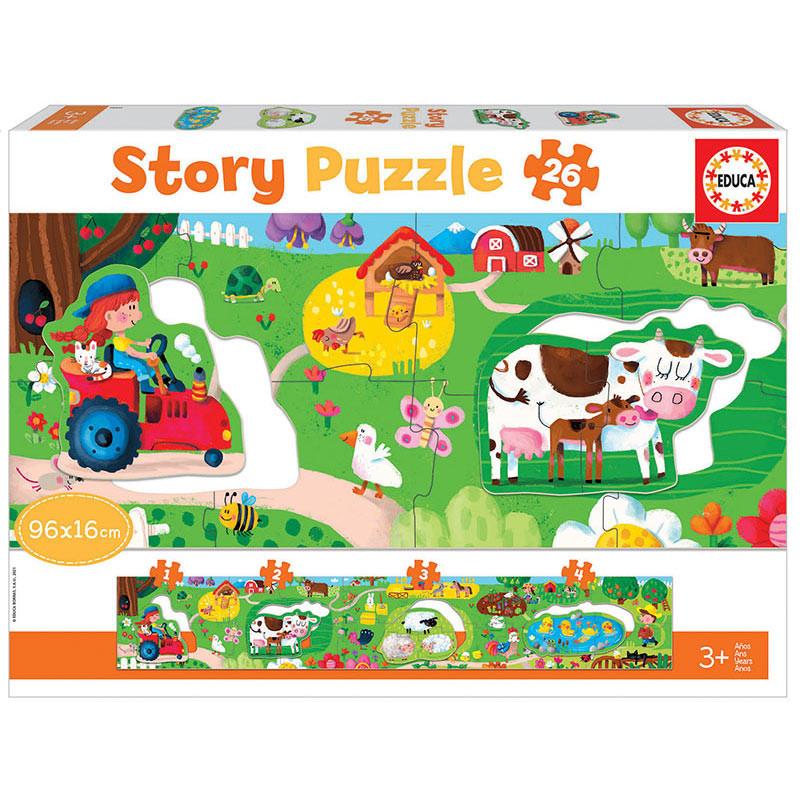 Educa la granja Story puzzle