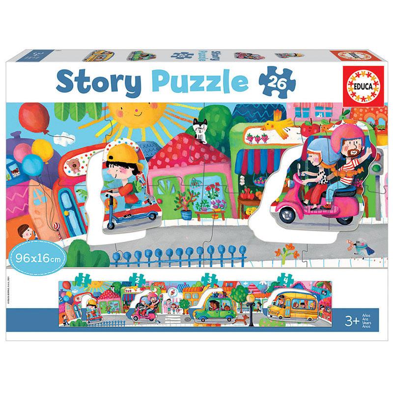 Educa vehículos en ciudad Story puzzle 26 piezas